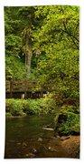 Rain Forest Bridge Beach Towel