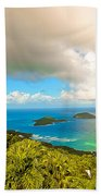 Rain In The Tropics Beach Towel