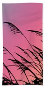 Rainbow Batik Sea Grass Gradient Silhouette Beach Towel