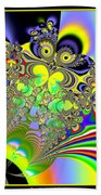 Rainbow Butterfly Bouquet Fractal 56 Beach Towel