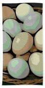 Rainbow Eggs Beach Towel