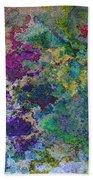Rainbow Fish Watercolor Abstract Art Beach Towel