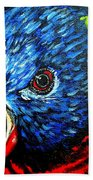 Rainbow Lorikeet Look Beach Towel