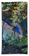 Rainbow Through The Rough Beach Towel