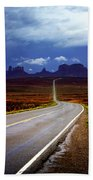 Rainclouds Over Monument Valley Beach Towel