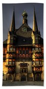Rathaus At Wernigerode Beach Towel