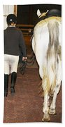Ready For The Dressage Lesson Beach Towel