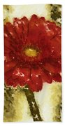Really Red Posey Beach Towel