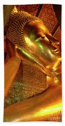 Reclining Buddha 2 Beach Towel