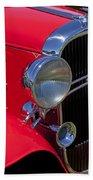 Red 1932 Oldsmobile Beach Towel