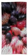 Red And Black Explosion #01 Beach Towel