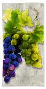 Red And White Grapes Beach Towel