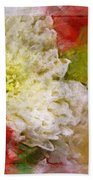 Red And White Mums Photoart Beach Towel