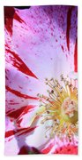 Red And White Speckled Flower Beach Towel