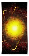 Red And Yellow Star Beach Towel