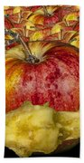 Red Apples And Core Beach Towel