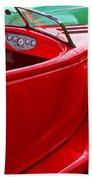Red Beautiful Car Beach Towel