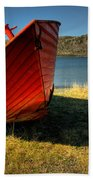 Red Boat Beach Towel