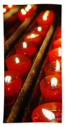 Red Candles Beach Towel