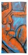 Red Caryatid - Nudes Gallery Beach Towel