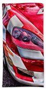 Red Corvette Beach Towel