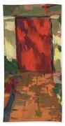 Red Door - Shadow And Light Beach Towel