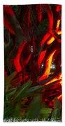 Red Entanglement Beach Towel