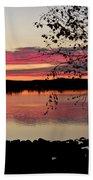 Red Evening Sky Beach Towel