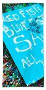 Red Fish Blue Fish Sale Beach Towel