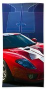 Red Ford Gt40 Beach Towel
