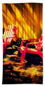 Red Garden Chairs Beach Towel