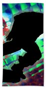 Red Green And Blue Abstract Boxes Skateboarder Beach Sheet