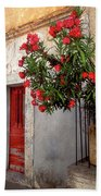 Red In Provence Beach Towel
