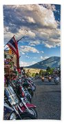 Red  Lodge Motorcycle Rally Beach Towel