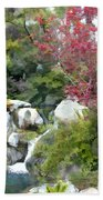 Red Maple Above The Falls Beach Towel