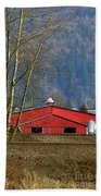 Red Matsqui Barn Beach Towel