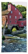 Red Mill On The Water Beach Towel