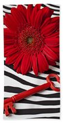 Red Mum And Red Key Beach Towel