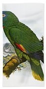 Red-necked Amazon Parrot Beach Towel