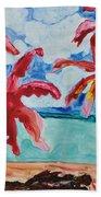 Red Palms Beach Towel