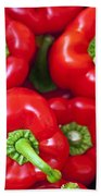 Red Peppers Beach Towel