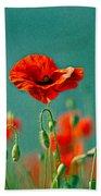 Red Poppy Flowers 06 Beach Towel