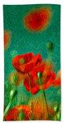 Red Poppy Flowers 07 Beach Towel