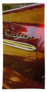 Red Ranchero And Round Taillight Beach Towel