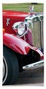 Red Roadster Beach Towel