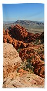 Red Rock Canyon At The Tank Beach Towel