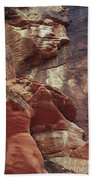 Red Rock Canyon Petroglyphs Beach Towel