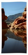 Red Rock Canyon Water Beach Towel