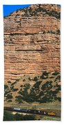 Red Rock Cliffs Along The Hood River Beach Towel