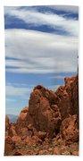 Red Rock Cliffs Valley Of Fire Nevada Beach Towel